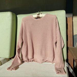 Brandy Melville Blush Ollie Knit Sweater